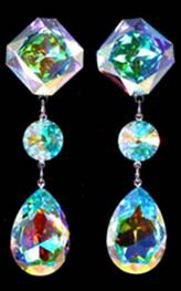 Crystal Earrings for Prom, Pageant or Formal - Jim Ball Designs