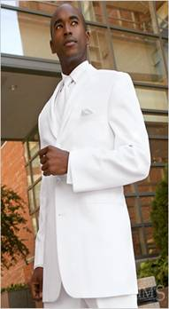 Perry Ellis America White Notch Tuxedo